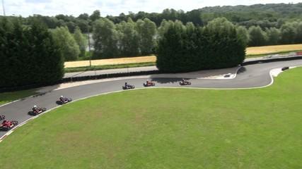 Karting course vue aérienne