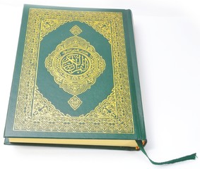 Holy Quran Isolated With a white background