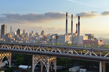 Queensboro Bridge and Big Allis Power Plant, New York