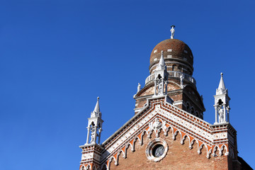 The bell tower of the church Madonna dell'Orto