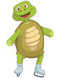 Funny Turtle. Skater.
