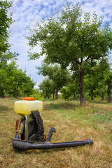 spray in an orchard
