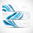 abstract wave header vector set design