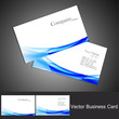 abstract business card set vector background