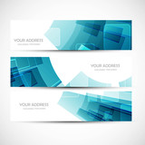 abstract colorful header vector set illustration