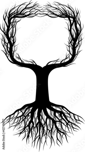 Tree Silhouette with space - 42748677