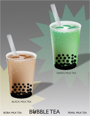 Bubble Tea (Black and Green)