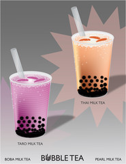 Bubble Tea (Thai and Taro)