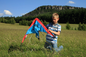 boy made kite