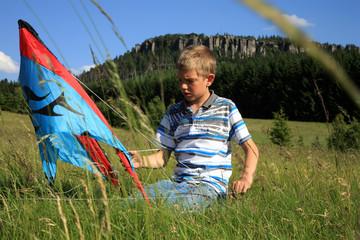 boy made kite
