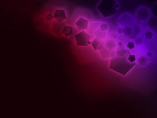 Violet-Magenta pentagon, black stripe background Oraigo-B BC