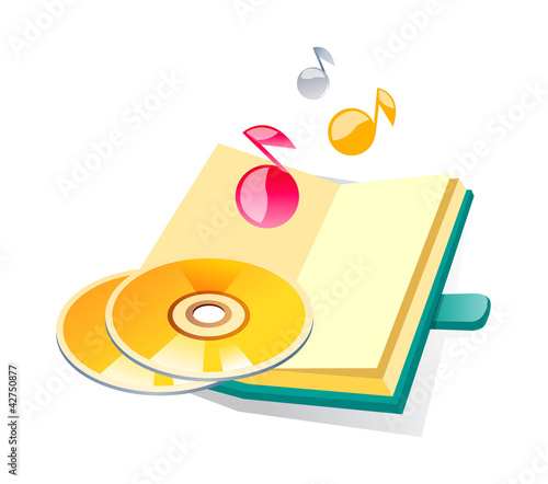 vector icon cds and diary