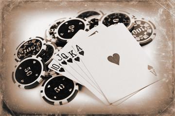 vintage poker concept
