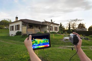 contrôle des déperditions thermique d'une maison