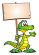 Crocodile holding Board