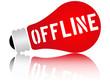 Offline word in a lamp