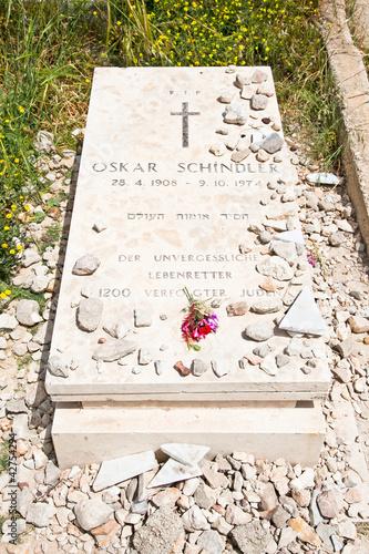 Leinwandbild Motiv Grave of Oskar Schindler in Jerusalem