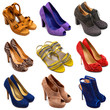 Multicolored female shoes-14