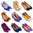 Multicolored female shoes-16