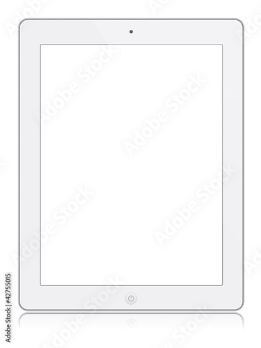 tablet isolated white blank white screen
