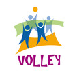 Logo beach volley # Vector