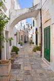 Alleyway. Ostuni. Puglia. Italy.-