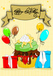 Muffin, Cupcakes Geburtstagskarte