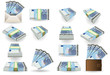 full set of twenty euros banknotes