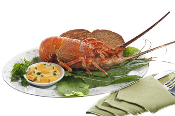 lobsters and crayfish sauce