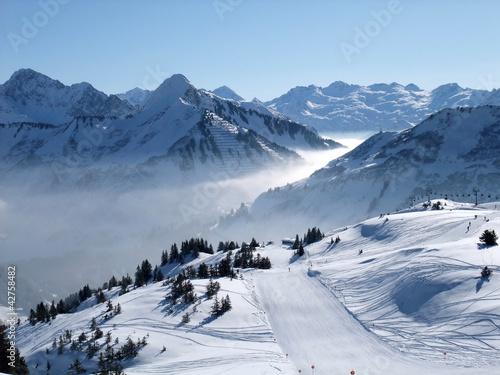 Leinwandbilder,skier,skipiste,winter,skilaufen