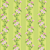Green summer wallpaper with flowering bindweed