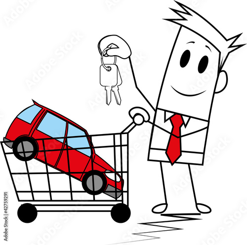 Square guy buying a car