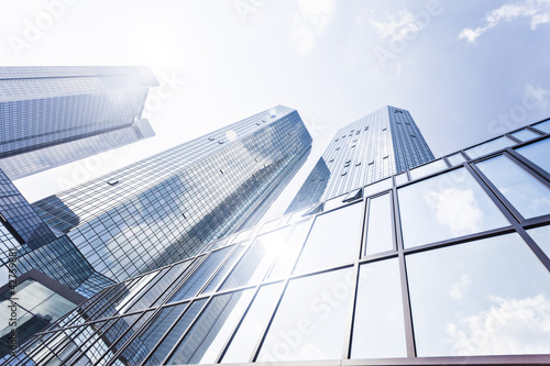Aluminium Aan het plafond Bankenviertel Architektur Frankfurt