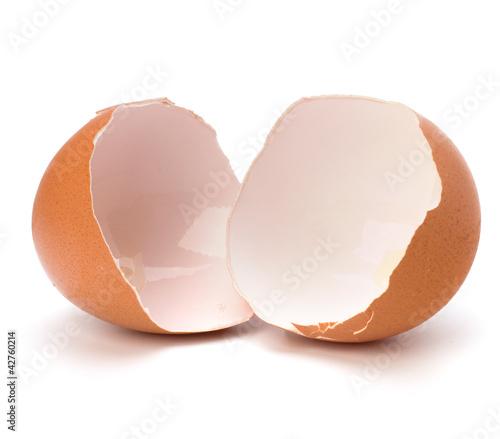 Leinwanddruck Bild broken eggshell