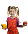Little girl with paprika