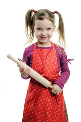 Girl with rolling-pin
