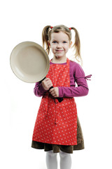 Child with frying pan