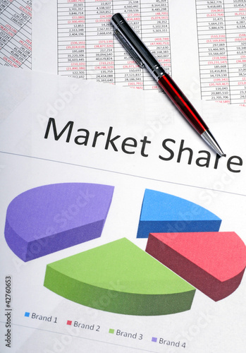 Marketing pie chart showing market share