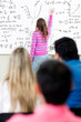 Woman participating in class