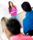Female student in class