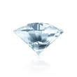 Blue Diamond isolated on white background