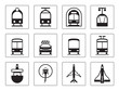 Public vehicles icons- vector illustration