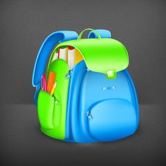 School bag, vector