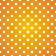 Polka dots on gradient sunny background seamless vector pattern