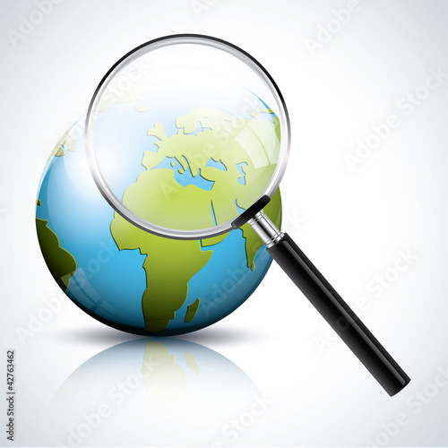 Earth under a magnifier