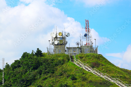 weather station on mountain