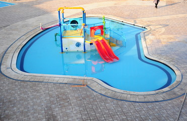 The Water slide of pool