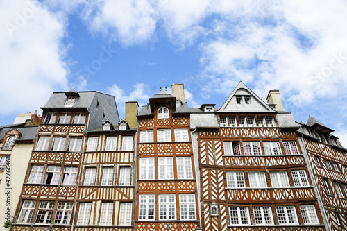 Medieval houses in Rennes, France