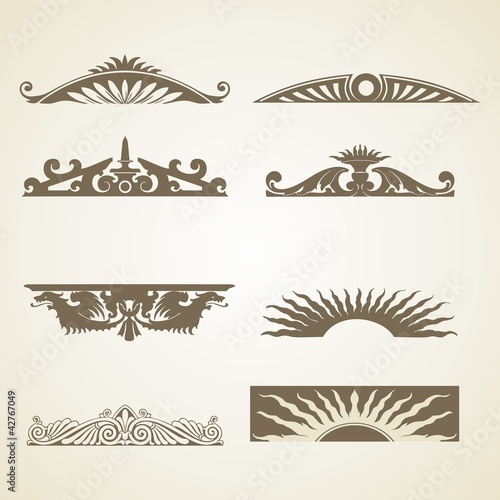 Ornamental Vintage Decoration Header