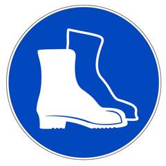 Schild - Fußschutz benutzen